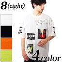 Tシャツ メンズ 半袖Tシャツ全4色 新作 Tシャツ プリント ビッグ Tシャツ ブラック ホワイト 白 アメカジ ストリート 海 夏に 8(eight) エイト 8