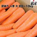 【送料無料】【西日本産】訳あり 人参 大 約9〜10kg(北