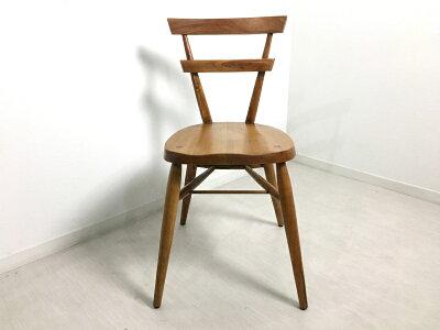 英国アンティーク調スクールチェア木製椅子イスマホガニー無垢材ナチュラル