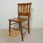 英国アンティーク調チャーチチェア椅子イスボックス付クロスマホガニー教会椅子