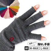 ハンドウォーマーMAX(指長) スマホ手袋 綿 指なし 手袋 レディース メンズ 軍手 防寒 温かい 日本製 841【あす楽】[I:9/40]