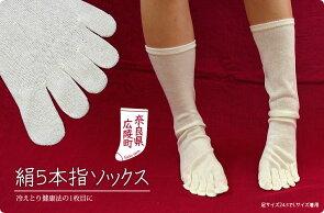 【2足バリューセット】絹5本指ソックス