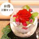 《まとめてお得 500円割引 2個セット》プチギフト プレゼント プリザーブドフラワー 花 造花 イミテーシ...