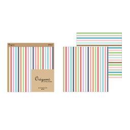 【ネコポス便対応可能商品】 【Origami<オリガミオリガミ>】 オリガミ 2色アソート<15角> ベーシック ストライプ柄 ミドリ 34354