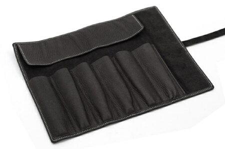 ROMEOロメオオイルキップロールペンケース黒黒色(ブラック)伊東屋354-R-11