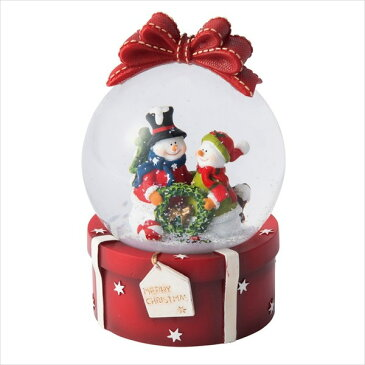 スノードーム・M・ギフト [全2種類] MARK'S マークス 439-GUO-SD96-* *ネコポス不可* クリスマス 置物 サンタ スノーマン