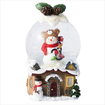 スノードーム・M・ツリー/ハウス [全2種類] MARK'S マークス 439-GUO-SD93-A、GUO-SD92-B *ネコポス不可* クリスマス 置物 サンタ スノーマン