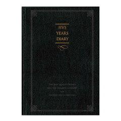 シルクのようになめらかな書き心地が特長の日記帳です。*ネコポス便対応不可商品*  5年日記(...