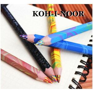 【ネコポス便対応可能商品】【KOH-I-NOOR/コヒノール】MAGIC 太軸マーブル色鉛筆 …