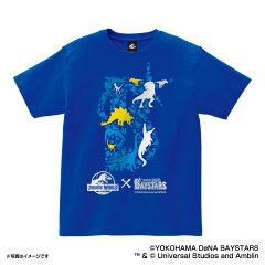 JURASSIC WORLD×横浜DeNAベイスターズ Tシャツ(ロゴ) 大人用