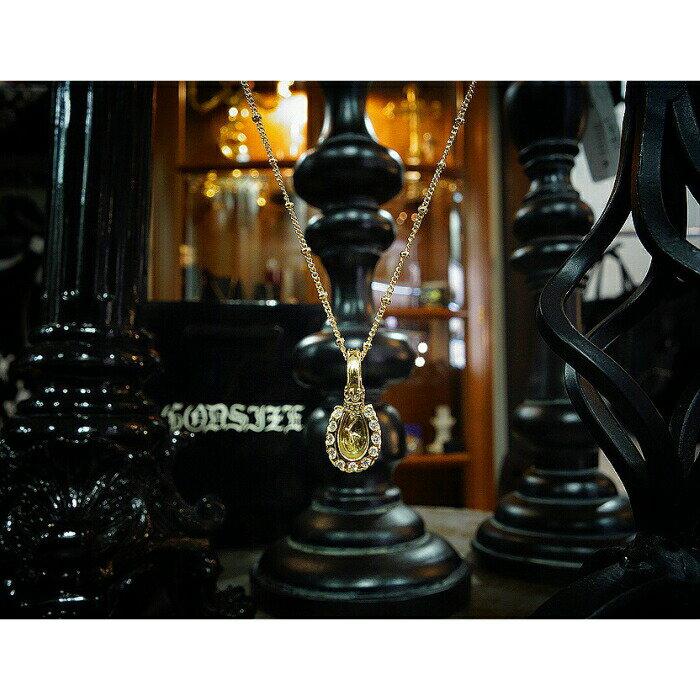 【GODSIZE/ゴッドサイズ】HORSESHOE CROWN Pendant/K18 Yellow Gold ゴールド ペンダント ホースシュー クラウン 蹄鉄 馬蹄 パヴェ Diamond ダイアモンド ギフト