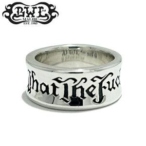 【Bill Wall Leather/ビルウォールレザー】WHAT THE FUCK RING/ワッツ ザ ファックリング 幅広リング シルバーアクセサリー メンズアクセサリー silver925 シルバーリング Ring