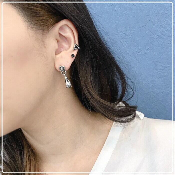 【LONE ONES/ロンワンズ】Flow Link with Tear Bell Earring フローリンクウィズティアベルイヤリング ティアベル ベルピアス ベルチャーム 鈴 ギフト シルバーアクセサリー シルバー925 Silver925