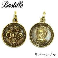 【Bastille/バスティーユ】ピエースペンダント 真鍮 Brass コイン コインペンダント 王冠 ユリ Lily メダル ブラス マリーアントワネット