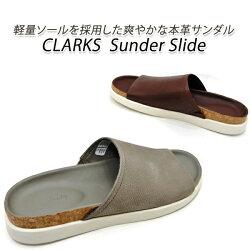 クラークス、サンダル、メンズ、本革、CLARKS、Sunder、Slide、サンダースライド、213J