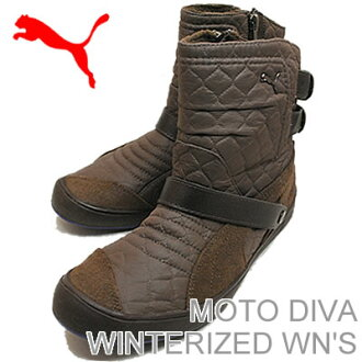 PUMA (PUMA) MOTO DIVA WINTERIZED WN's (モトディーバ ウィンタライズド women's) chocolate brown / chocolate brown / spectrum blue