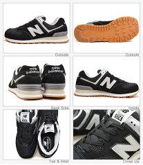 newbalanceニューバランスML574BLACK/GRAYブラック/グレー靴スニーカーシューズクラシックレトロランニング