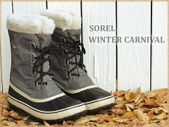 SOREL(ソレル)WINTERCARNIVAL(ウィンターカーニバル)レディースピューター/ブラック[靴・ウインターブーツ・シューズ]【smtb-td】