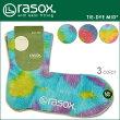 【メール便対応】rasox(ラソックス)タイダイミッド【7色】[ロークルー丈ソックス・靴下]