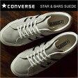 CONVERSE コンバース STAR&BARS SUEDE スター&バーズ スエード GRAY/BLACK グレイ/ブラック 靴 スニーカー シューズ 復刻アレンジ