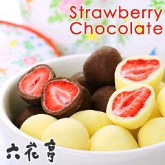 サックリ苺を2種類の六花亭チョコでコーティング六花亭 甘酸っぱさがおいしい ストロベリーチ...