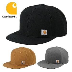 カーハート キャップ メンズ ASHLAND CAP MEN'S Carhartt キャップ 人気 ブランド かっこいい おしゃれ 101604 カーハート 帽子 スナップバックキャップ ベースボールキャップ ブラック カーハートブラウン アメカジ