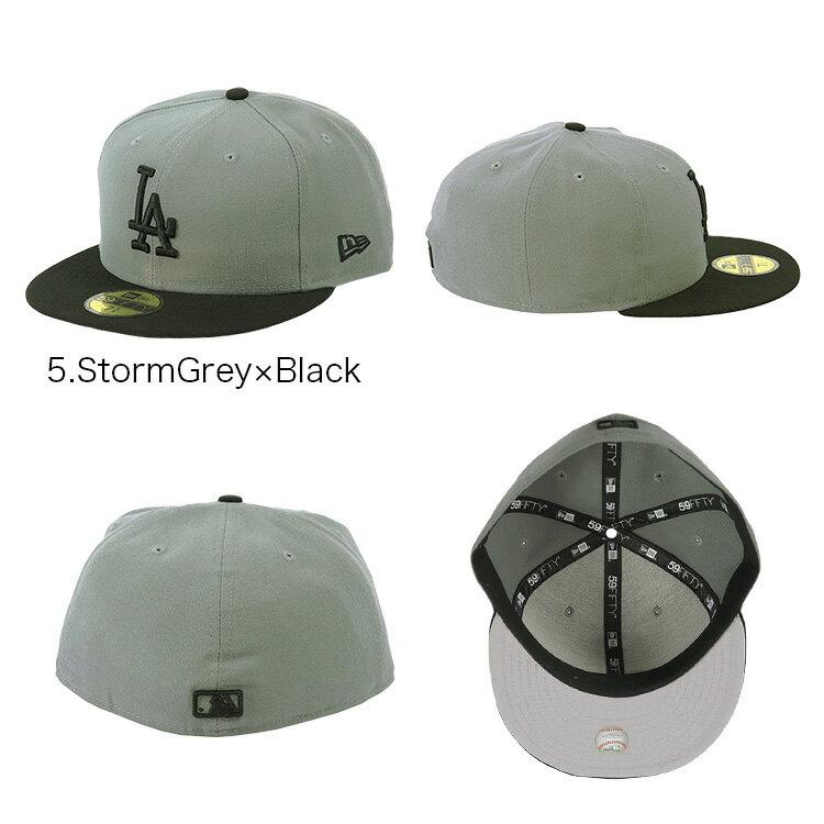 ニューエラ キャップ ドジャース メンズ 帽子 59FIFTY NEW ERA CAP MEN'S ロサンゼルス・ドジャース ブラック グレー ツートン ニューエラ ドジャース キャップ ベースボールキャップ NEWERA 大きいサイズ ビックサイズ 野球帽 LA ブランド かっこいい おしゃれ 人気