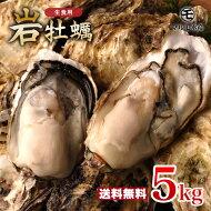 【送料無料】夏の風物詩♪どっさり5kg!(30個前後)《九十九島産》(生)岩牡蠣/開け方ガイド付き![お中元父の日ギフトおうちグルメBBQ生牡蠣マルモ水産]