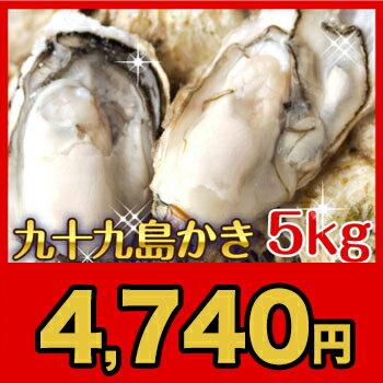 【送料無料】今年も旨みがギュ〜〜〜ッ!九十九島産殻付き牡蠣5kg