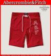 【送料無料】アバクロ Abercrombie&Fitch アバクロンビー&フィッチ【正規品】【メンズ】Mens 9'' Board Fit Swim Shorts ストレッチ スイムウェア サーフパンツ 水着 レッド【楽天カード分割】