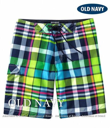本物レア■OLD NAVYオールドネイビー Men's Plaid Board Shorts メンズ スイムウェア...