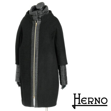 \スーパーSALE/【送料無料】【HERNO】ヘルノ/ウール×ダウンジャケットレイヤードコート/ダウン/ウールコート/ロングコート/スタンドカラー/コクーンシルエットで華奢見せ/ウール×ウルトラライトダウンで防寒/CA0165D[4147]