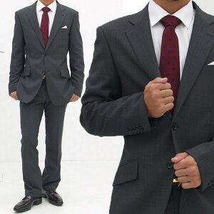 送料無料 メンズスーツ ビジネスに使いやすい◎通勤 おしゃれ アジャスター付きパンツ レギュラースーツ 2つボタン 入学式 卒業式 入園式 卒園式 ブラック グレー A5 A6 A7 AB7 BB5 BB7[37296] 【4800円以上送料無料】