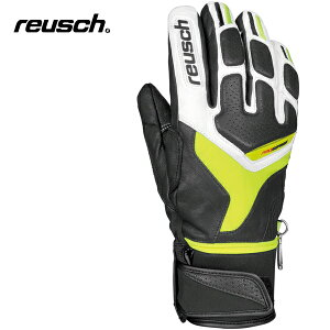reuschロイシュPROFISL[4301113]ホワイト/ネオングリーン【メンズ・ユニセックス】【S019】【スキーグローブ】