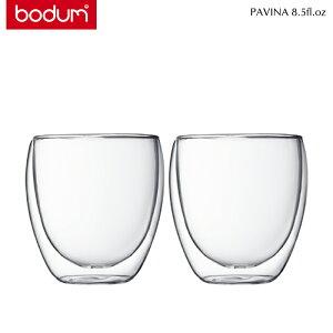 bodumボダムPAVINAダブルウォールグラス0.25L/8.5fl.oz2個セットトランスペアレント