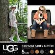 【正規品】【送料無料】 UGG アグ 3352 MINI BAILEY BUTTON ウィメンズ ミニ ベイリーボタン ムートンブーツ 全5色 ブラック/チェスナット/チョコレート/グレイ/サンド