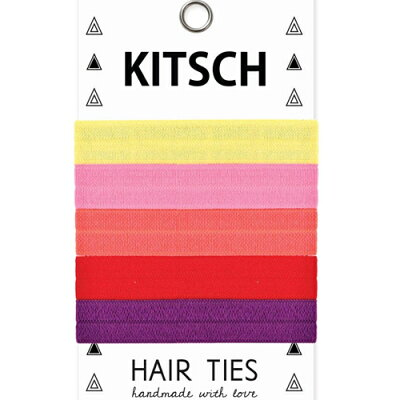 KITSCHキッチュSOLIDHAIRTIESヘアゴム5本セットBLACKTOBASICSヘアバンドヘアクリップヘアアクセサリーシュシュブレスレット