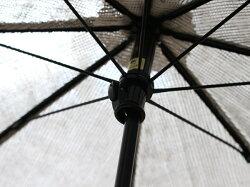 日傘リネンパラソル(折りたたみジャガード水玉)