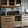 [ポイント6倍]【予約受付中】スプレム キッチンボード 1200 splem kitchen board 1200 オーク材の木目が美しいレンジ、炊飯器も置ける120cmの日本製キッチンボード 食器棚