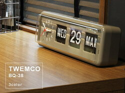 TWEMCO/トゥエンコBQ-38置時計としても掛け時計としても使えるカレンダー付きのクロック