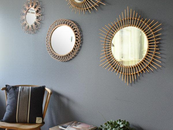 ロッタ ラタン ミラー エトワール L rotta rattan mirror etoile L ナチュラル感溢れる、愛らしい鏡。 アデペシュ