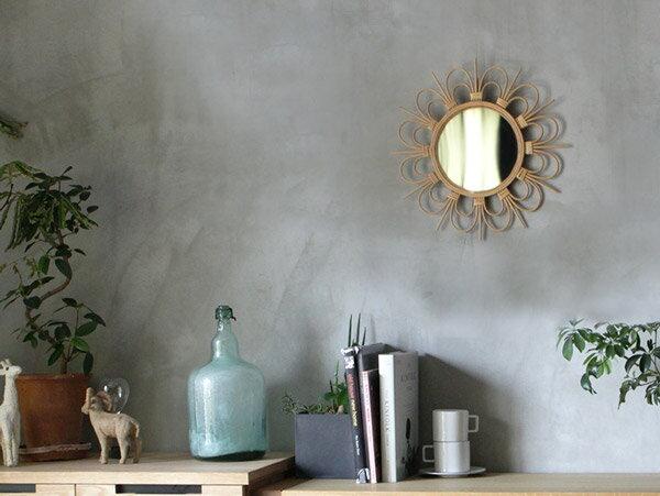 ロッタ ラタン ミラー フルール S rotta rattan mirror fleur S ナチュラル感溢れる、愛らしい鏡。 アデペシュ