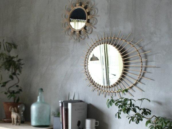ロッタ ラタン ミラー ソレイル L rotta rattan mirror soleil L ナチュラル感溢れる、愛らしい鏡。 アデペシュ