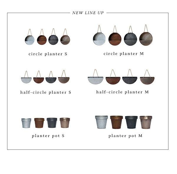 プランターおしゃれ『プラクトプランターポットSサイズ』鉢カバー4号メッキブリキ植木鉢鉢観葉植物植物インテリア植栽プランターカバー屋内インテリアカフェディスプレイ金属黒シルバー錆アデペシュ