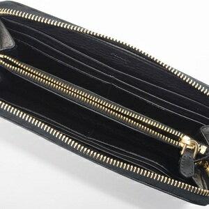 PRADA1M0506VITELLODAINOプラダラウンドファスナー長財布型押カーフスキンNERO