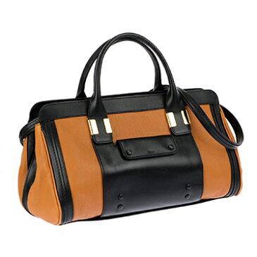 Chloe 3S0161-703-19NMARRON GLACEクロエ ハンドバッグ ショルダーストラップ付シープスキン×カーフスキンマロン×ブラック×ゴールド