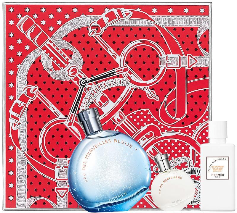 HERMES perfume set HERMES EAU DES MERVEILLES BLE...