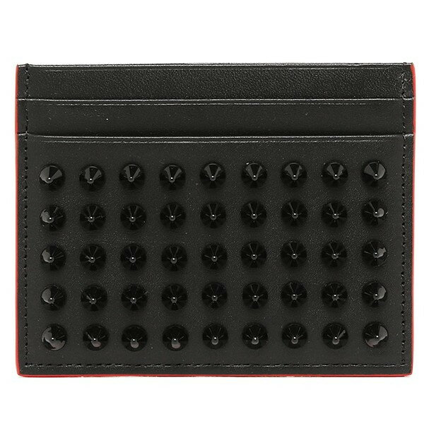 Christian Louboutin1135027-CM53-BLACKクリスチャンルブタンカードケースレザー ブラック×レッド:ブランドショップ ア・ドマーニ