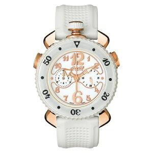 GAGAMILANO7011.05CHRONOSPORTS45MMガガミラノクロノスポーツ45ユニセックスクオーツ腕時計シリコンラバーラバー&18KPGステンレスホワイト×ゴールド