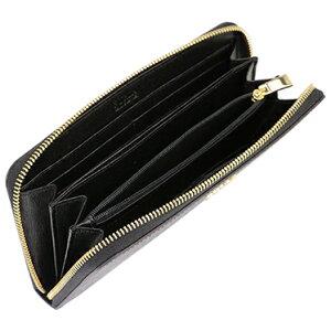 FURLA894748ONYXフルララウンドファスナー長財布レザー(ラミネート加工牛床革)ブラック×ゴールド